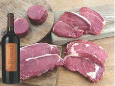 Picture of Steak and Red Wine Box